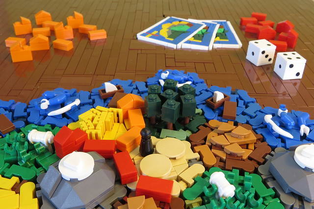 Rolling dice and building bricks