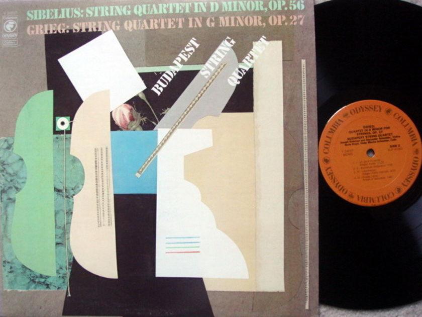 Columbia Odyssey / BUDAPEST QT,  - Sibelius-Grieg String Quartets, MINT!