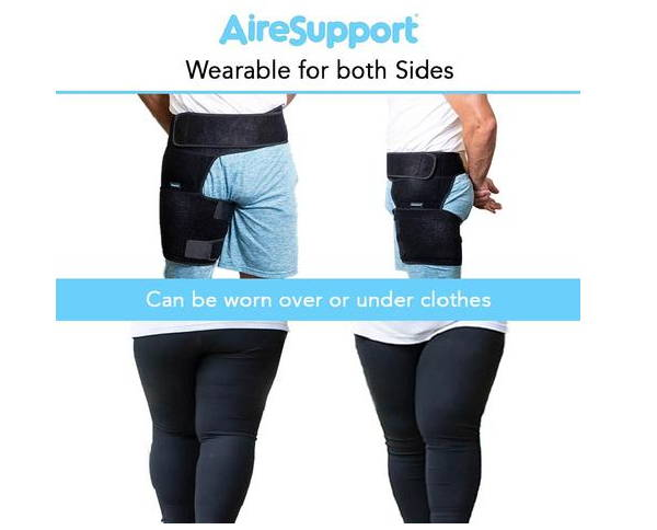 hip compression sleeve worn under or over pants