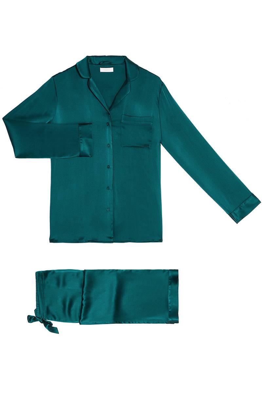 YOLKE Jade Classic Silk Pyjama Set