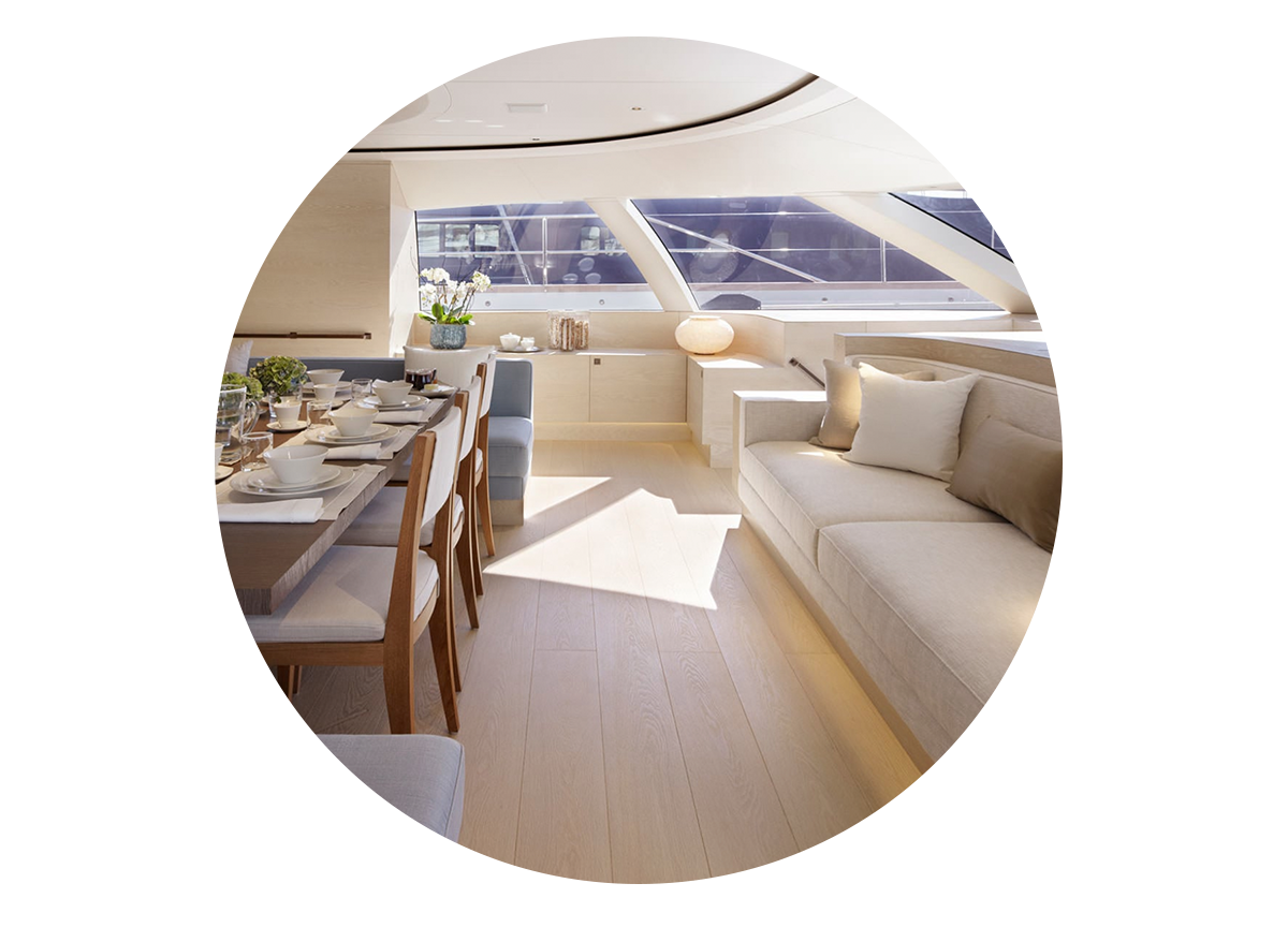 Image of interior of yacht