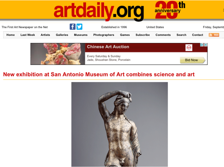Art Daily, Antinous