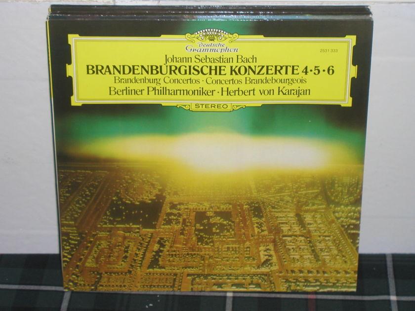 Von Karajan/Bpo - Bach/Brandenburg 4,5 DG German import  press