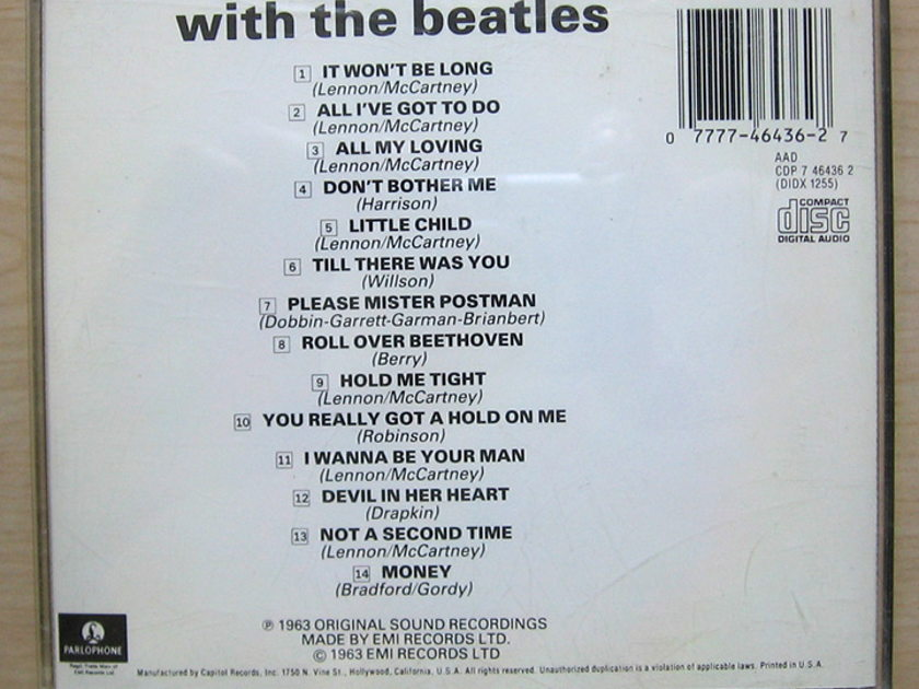 The Beatles - With The Beatles - 1987  EMI Parlophone ‎ CDP 7 46436 2