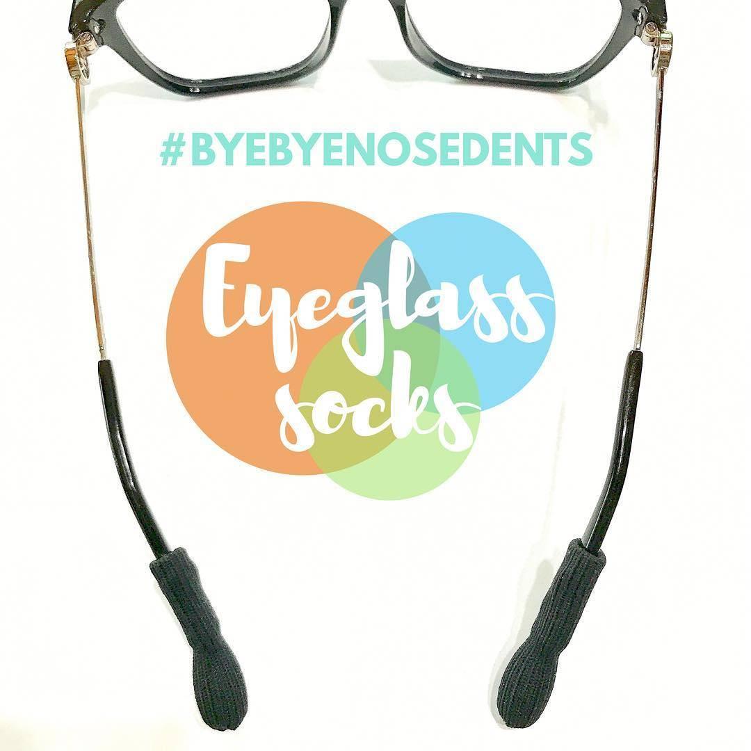 Eyeglass Socks prevents eyeglass pain, nose dents, slipping