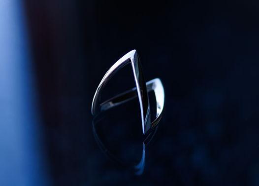 Геометрическое серебряное кольцо «Pacman»