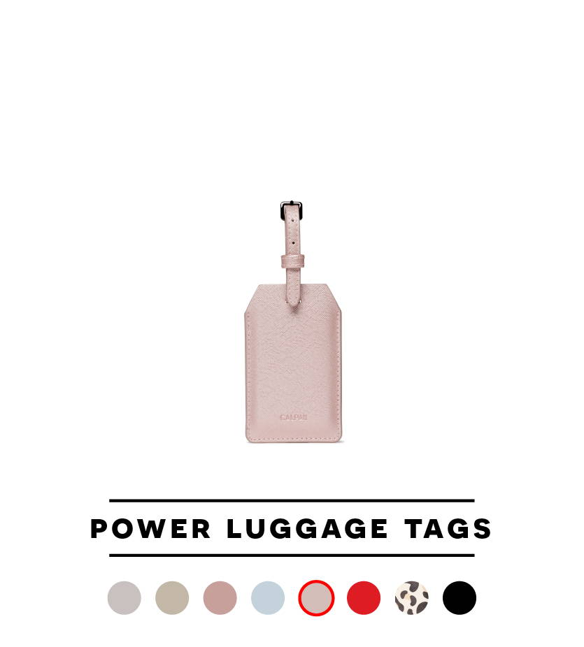 Power Luggage Tag - Shimmer Pink