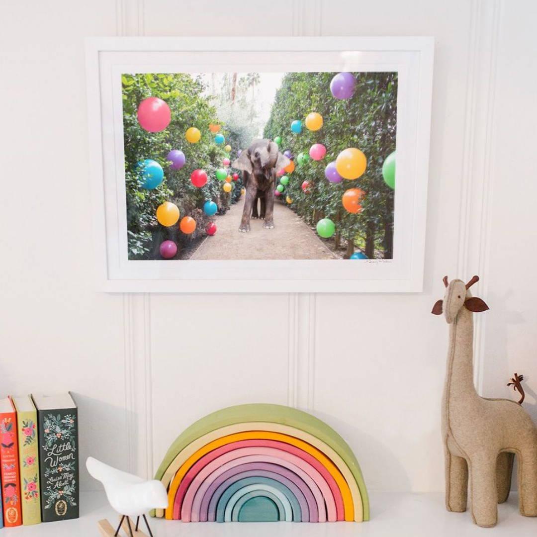 Colourful nursery decor and artwork