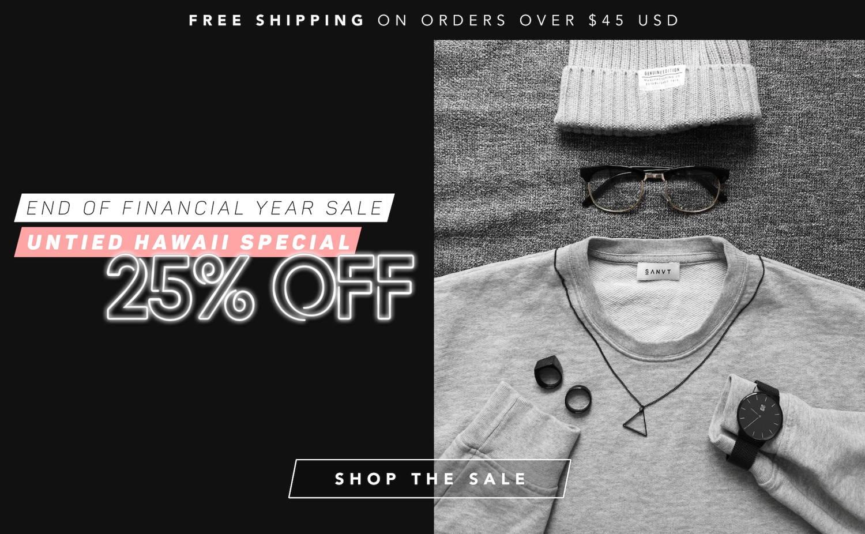 Untied Hawaii 20% Off