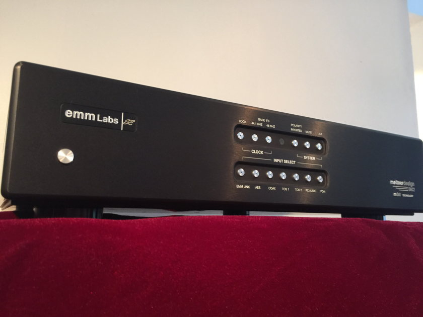 EMM Labs DAC2X TOP D/A Converter black with Nordost Blue Heaven power cord