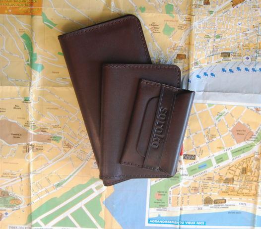 Набор Travel Brown. Портмоне, обложка на паспорт и визитница
