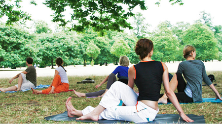 Sunday Yoga in Hyde Park London