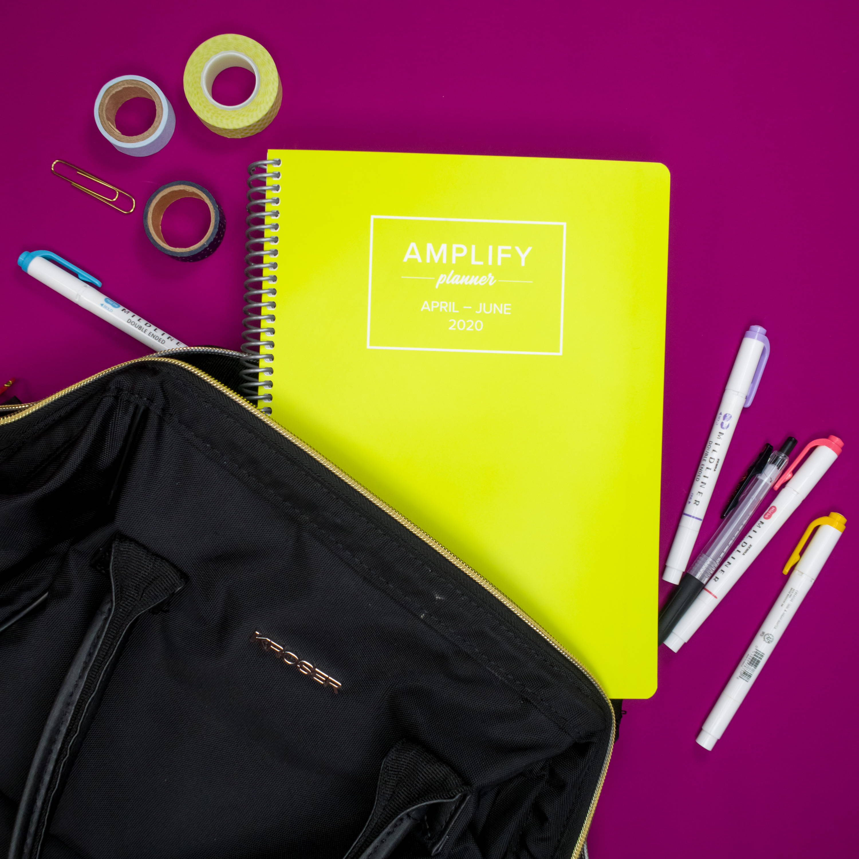 Amplify Planner chartreuse