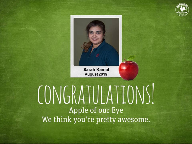 sarah kamal august apple of our eye