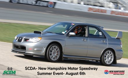 SCDA- New Hampshire Motor Speedway- August 6th