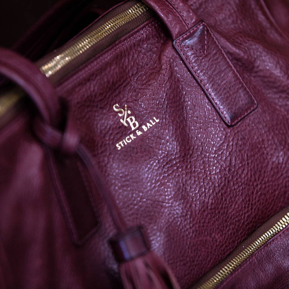 Burgundy vegetable-tanned Italian leather tote bag - Palermo Soho Tote by Stick & Ball