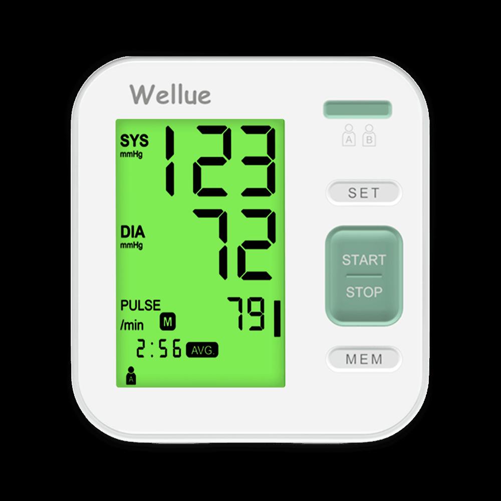 Bildschirmzoom des Blutdruckmessgeräts zu Hause