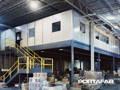 Prefab warehouse office on mezzanine