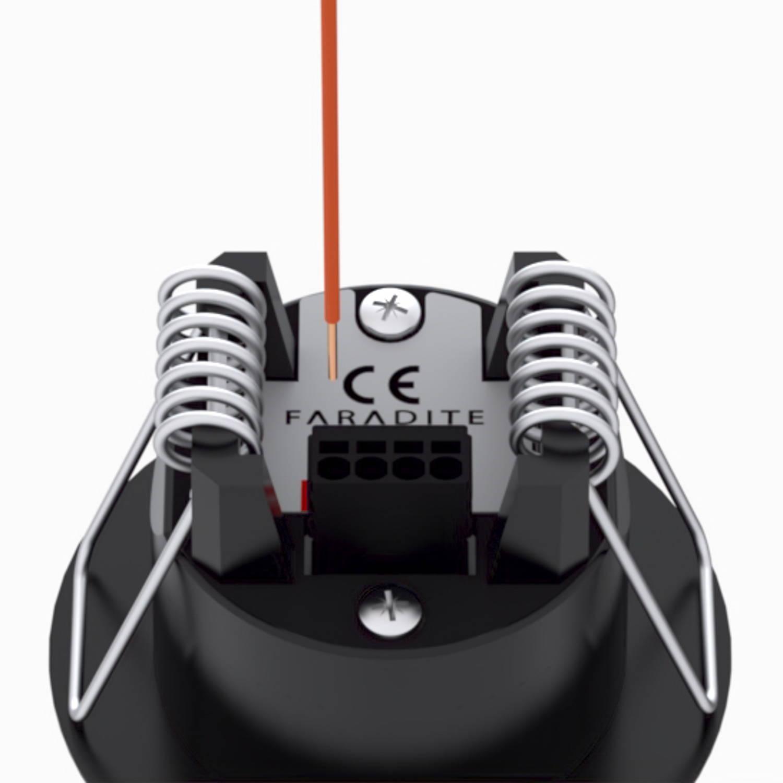 Black Faradite Motion Sensor 360 Volt Free dry contact push fit terminals