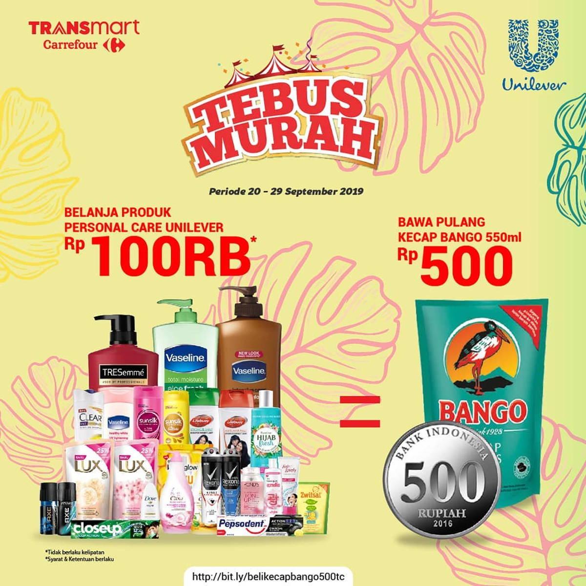 Katalog Promo: TRANSMART CARREFOUR: Promo TEBUS MURAH Minyak Goreng / Kecap Hanya Rp. 500 - 2