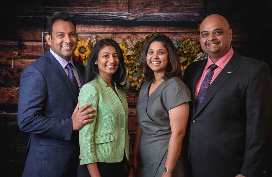 Franchise Owners from left to right - Anand Parekh, Kinjal Parekh, Tina Patel & Ketul Patel