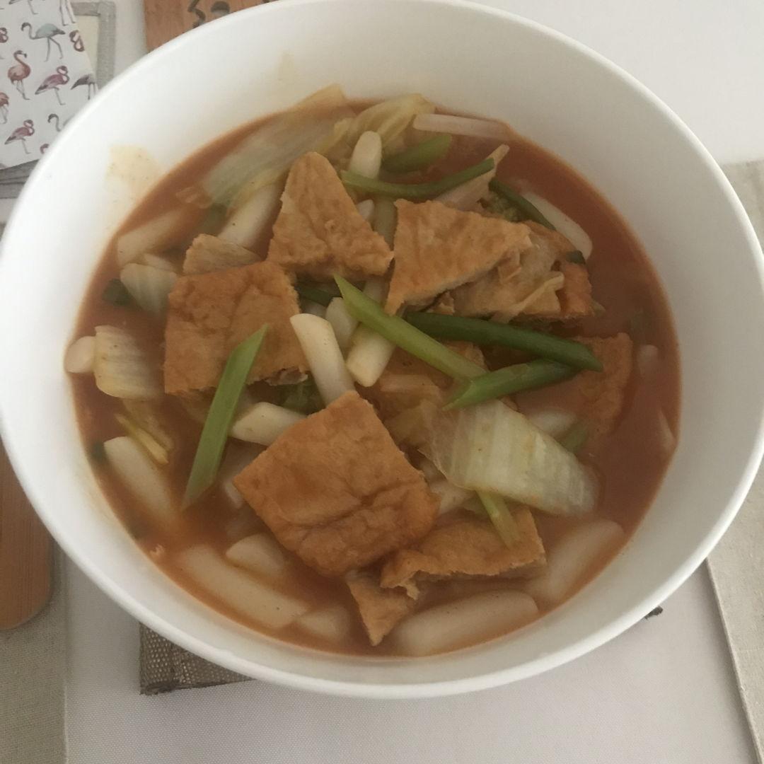 Tteokbokki for lunch 👍🏻🤗 So delicious 🤤