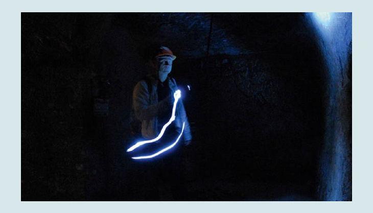 historische felsengaenge licht führer taschenlampe