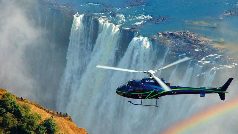 Helicopter flight Vic Falls, Zimbabwe