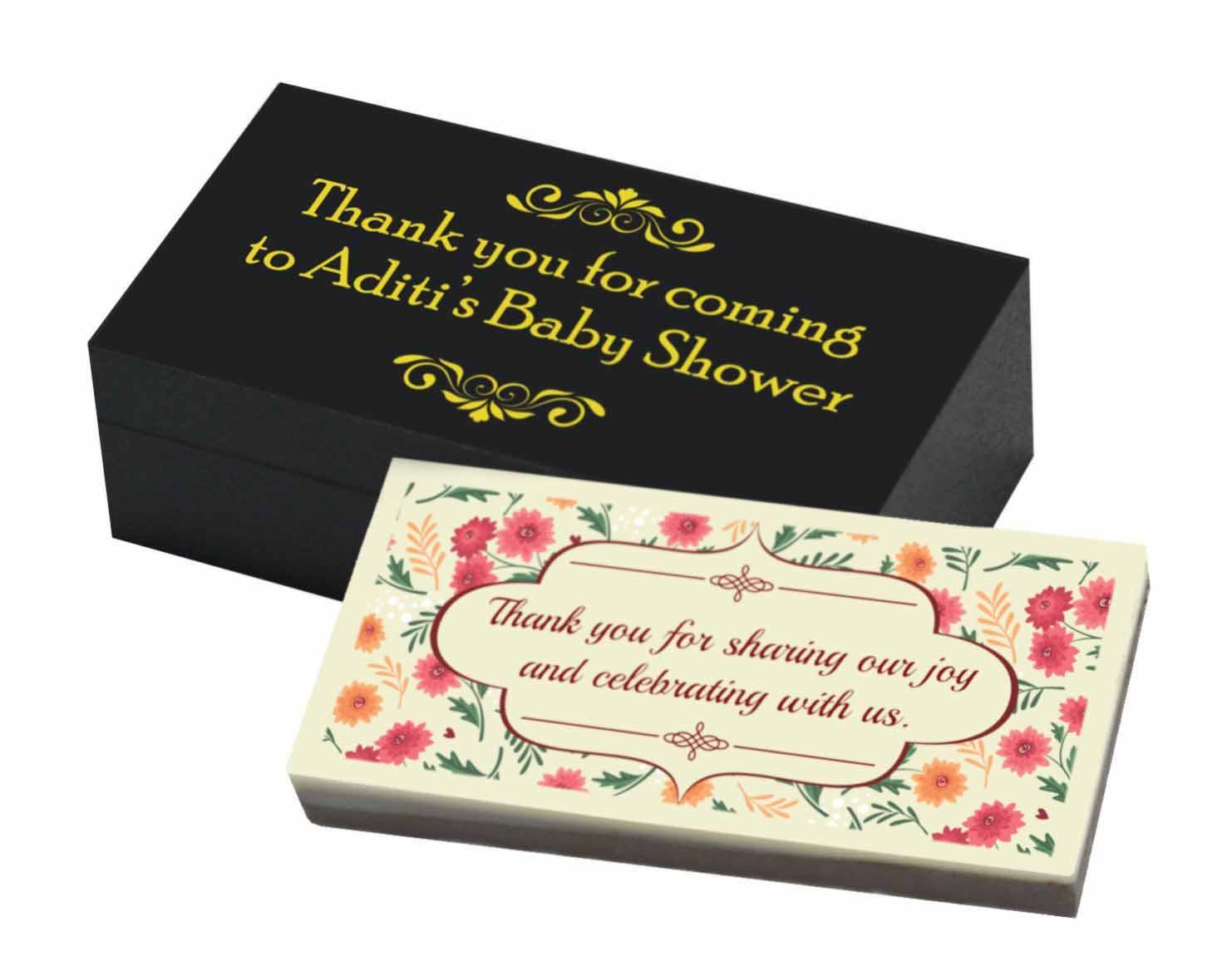 Baby Shower Return Gifts   Printed Bars
