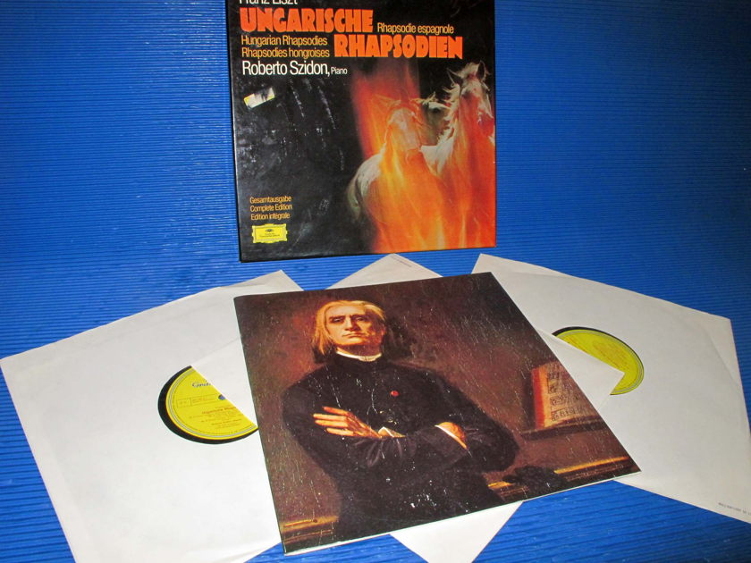 "LISZT / Szidon  - ""Hungarian ""Rhapsodies - Complete Edition"" -  DG 1973 'Single Tulip' Promo Set"