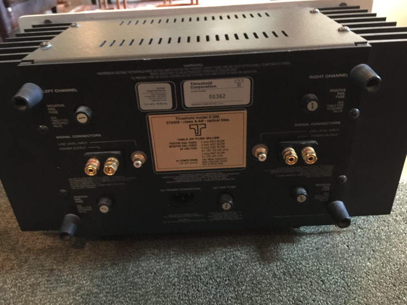 Threshold S/200 Class A/AB Stasis Power Amplifier