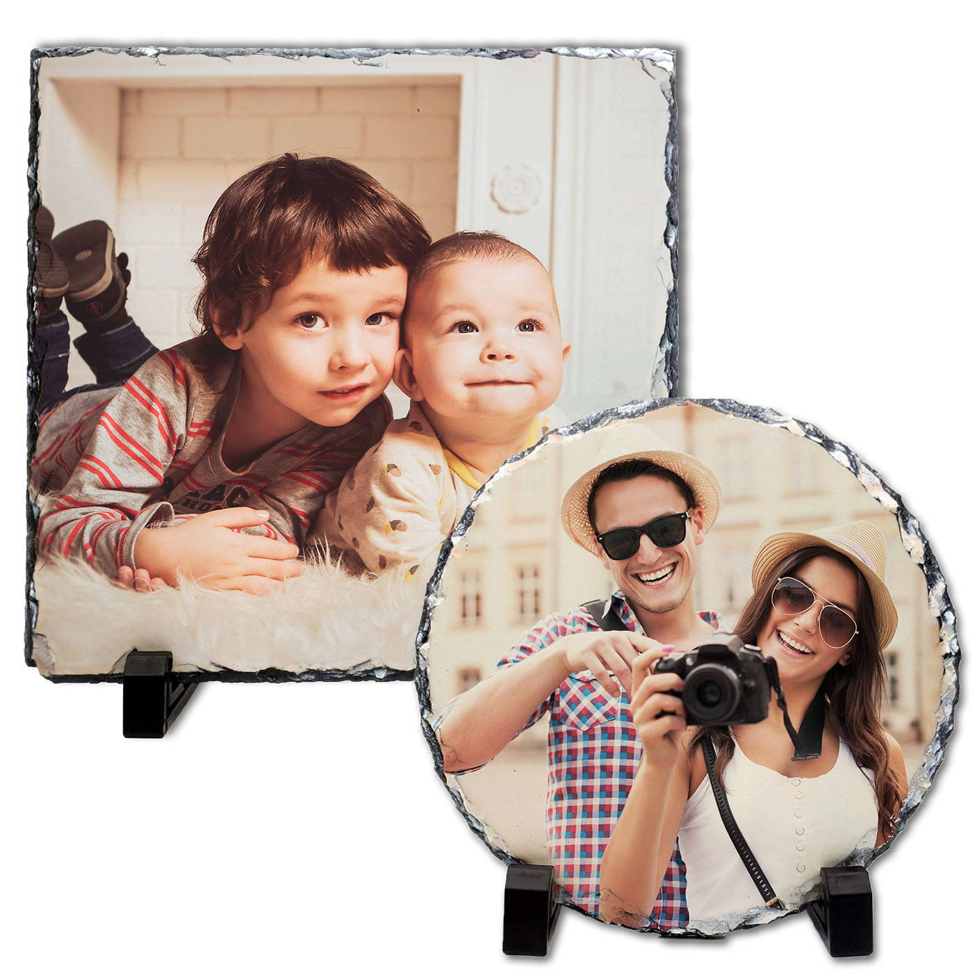 personalised photo slate block with 33% off