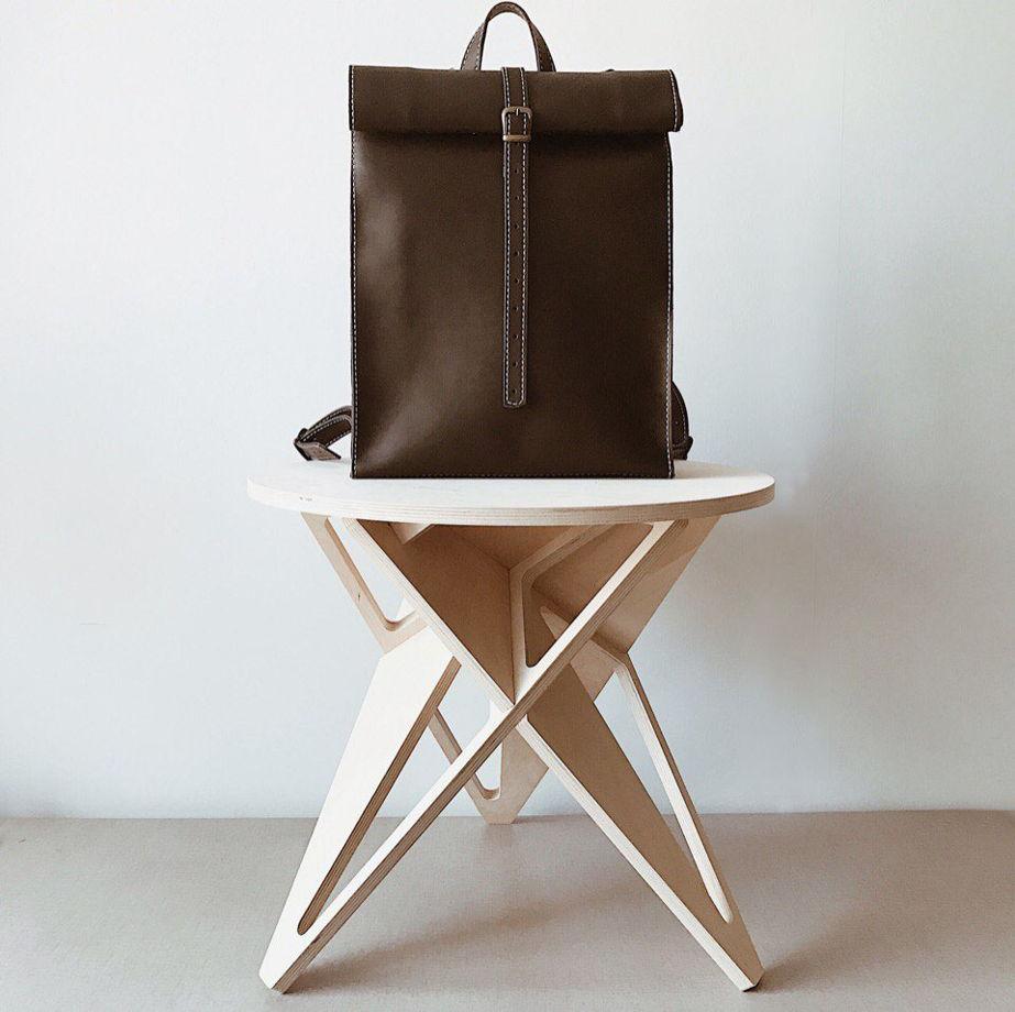 Кожаный Рюкзак ролл