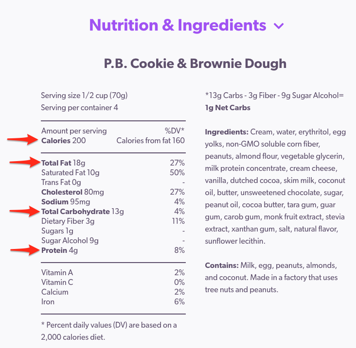 Nutrition & Ingredients