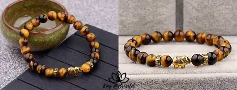 Bracelet Éléphant en Oeil de Tigre - King of Bracelet