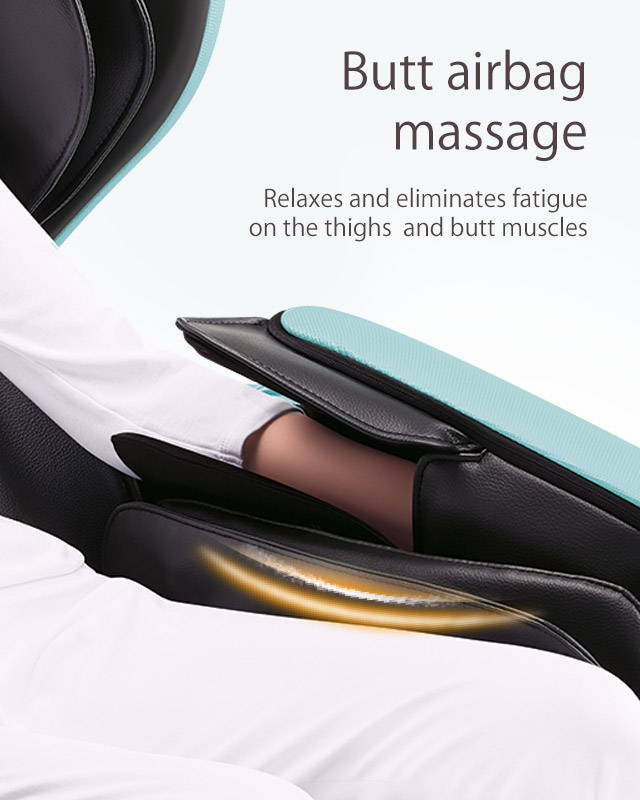 Butt airbag massage, relaxes and eliminates fatigue on thights and butt muscles
