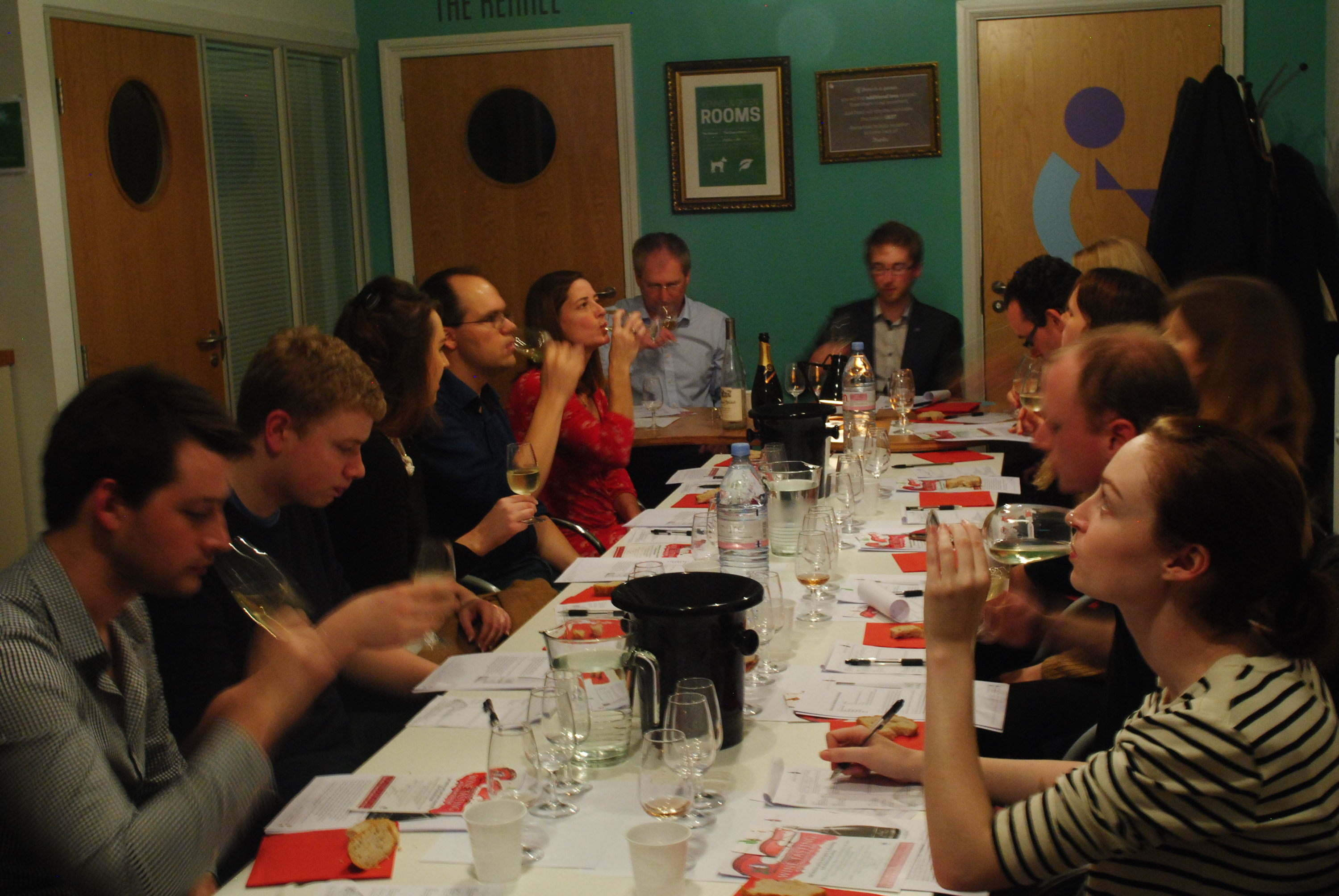 Ben Franks entertains The Guild for a corporate wine tasting