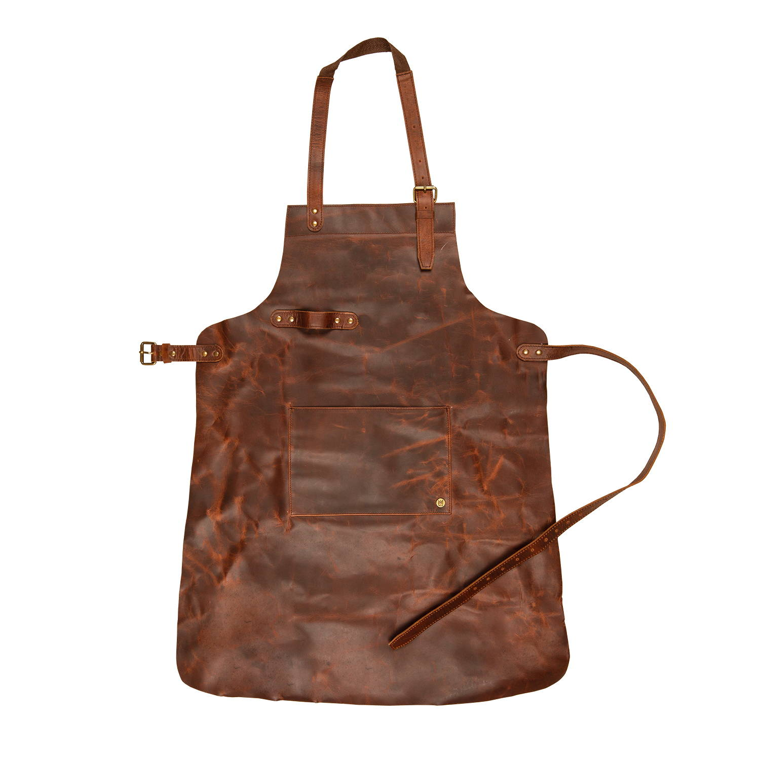 Classic Leather Apron with Towel Loop - MAHI Leather