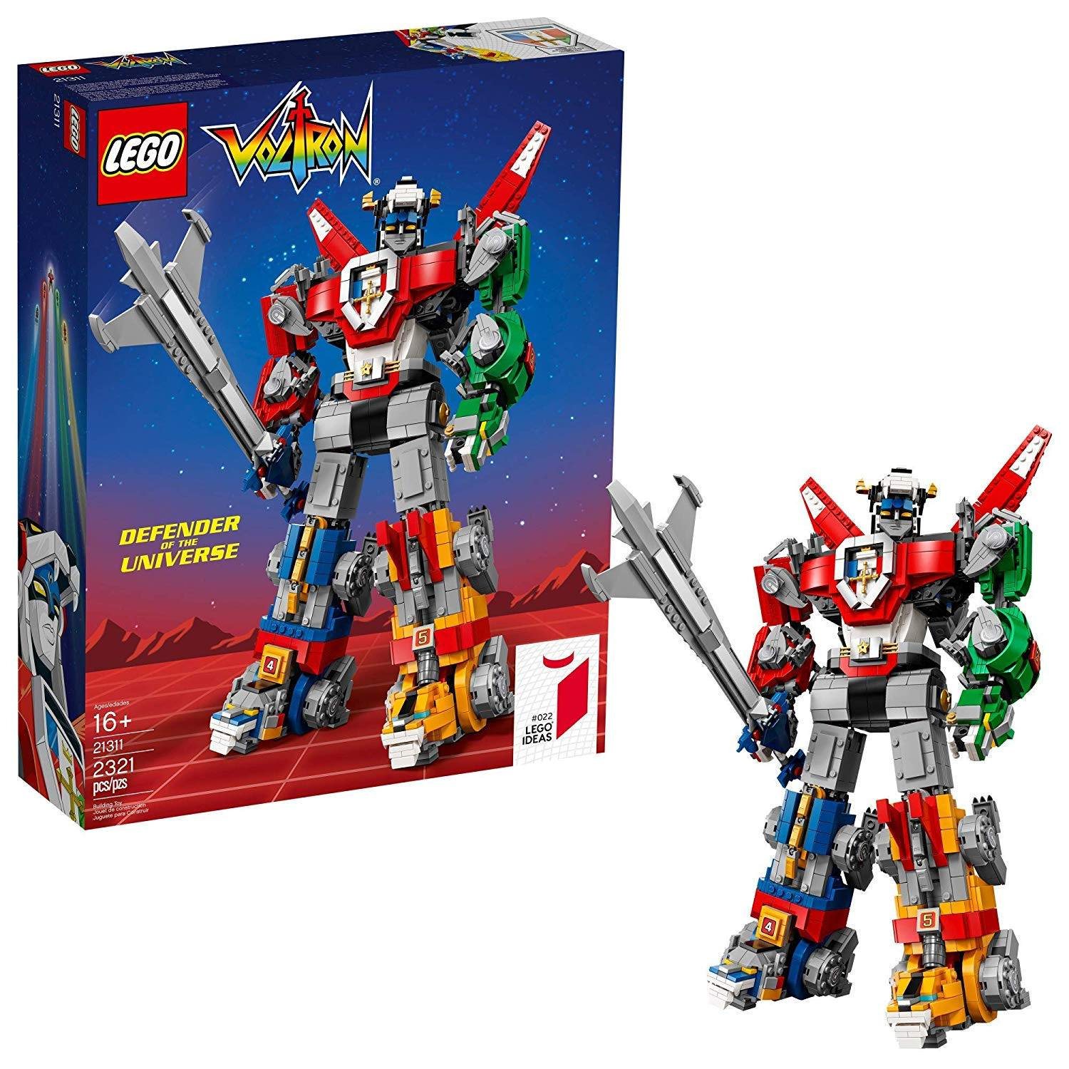 The LEGO Ideas Voltron Build Kit