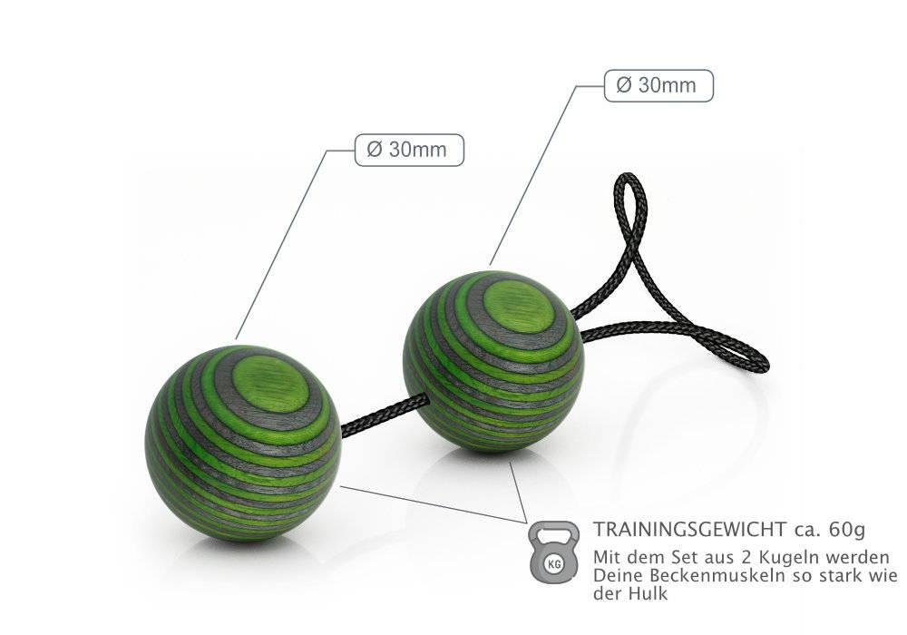 venusHOIZ Dralles Doppel - Liebeskugeln für Anfänger, für das Beckenbodentraining nach der Schwangerschaft