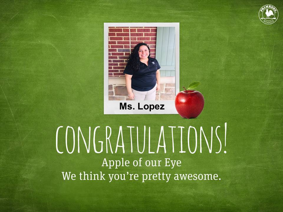 Ms. Lopez teacher of the month