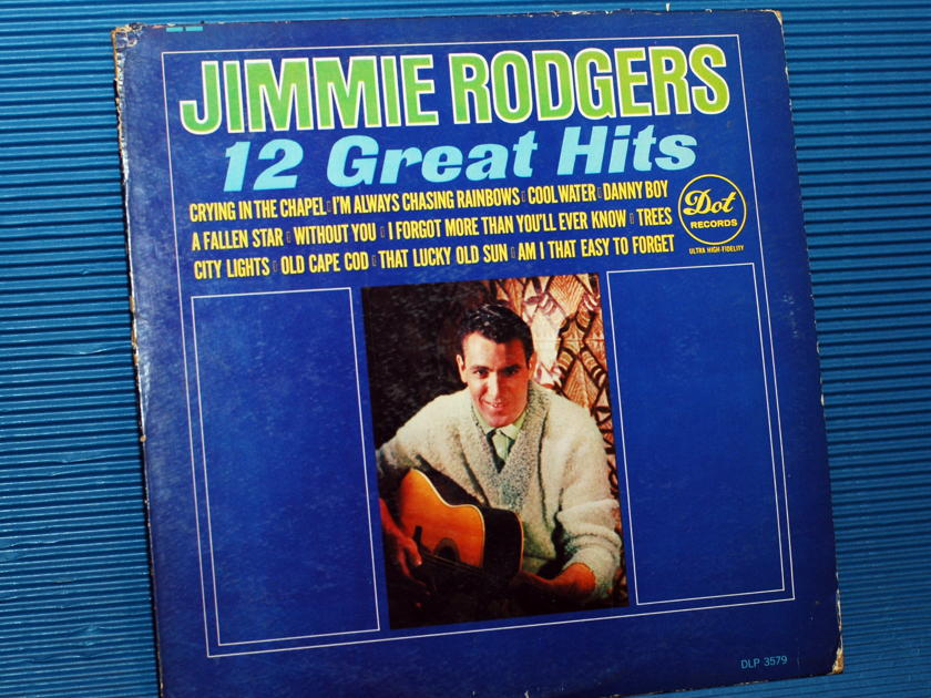 """JIMMIE RODGERS   - """"12 Great Hits"""" -  Dot Records 1964"""