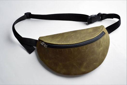 Поясная сумка из натуральной кожи в размере Макси