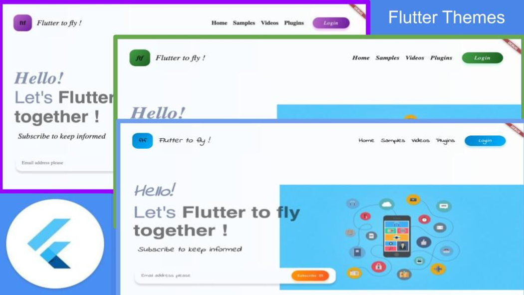 Using Flutter Themes for Cross-platform Landing Page (Web, Android