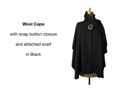 Wool Cape - Black