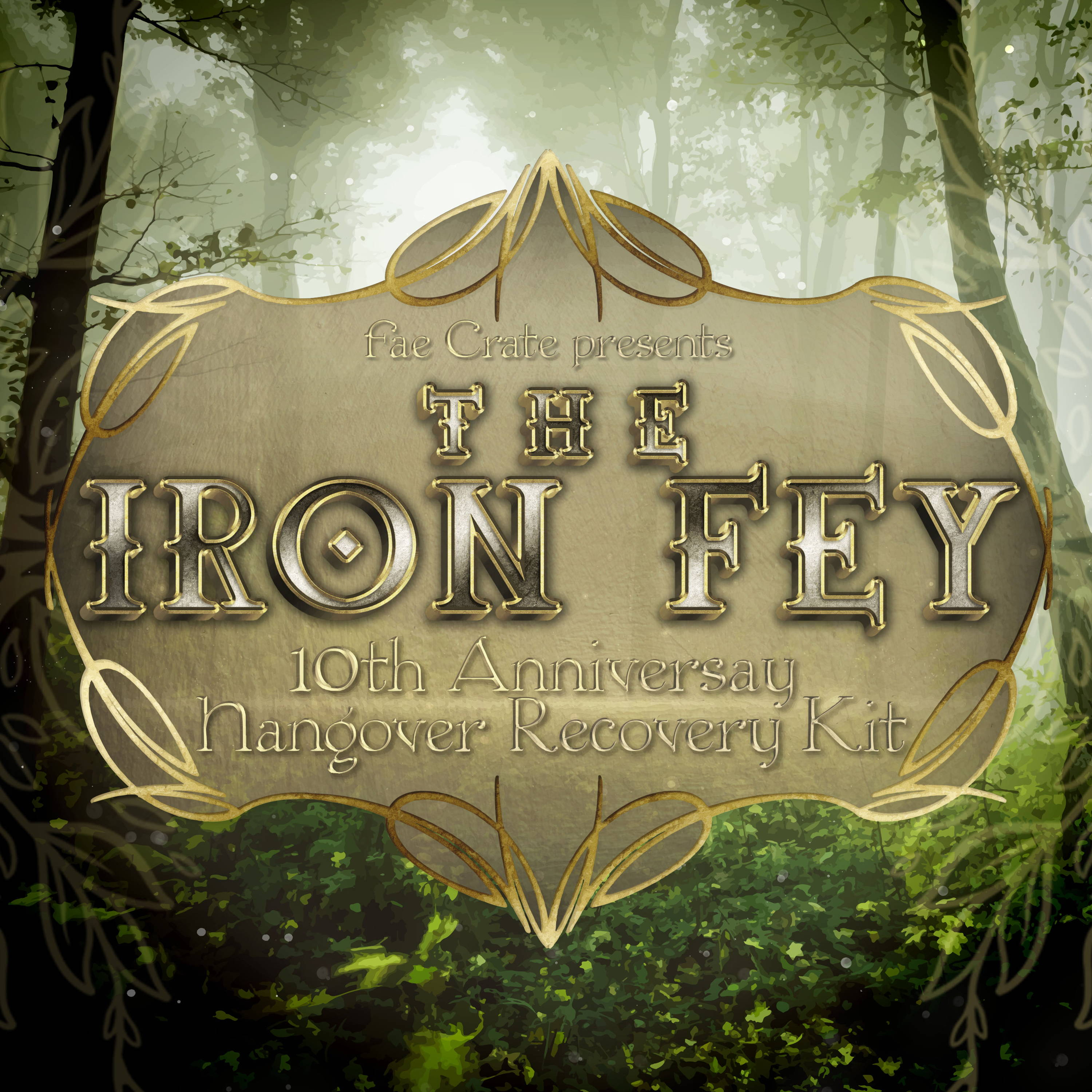 Fae Crate Presents The Iron Fey 10th Anniversary Hangover Recovery Kit
