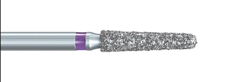 856XC Deep Purple™ Tapered Chamfer Diamond Preparation Bur