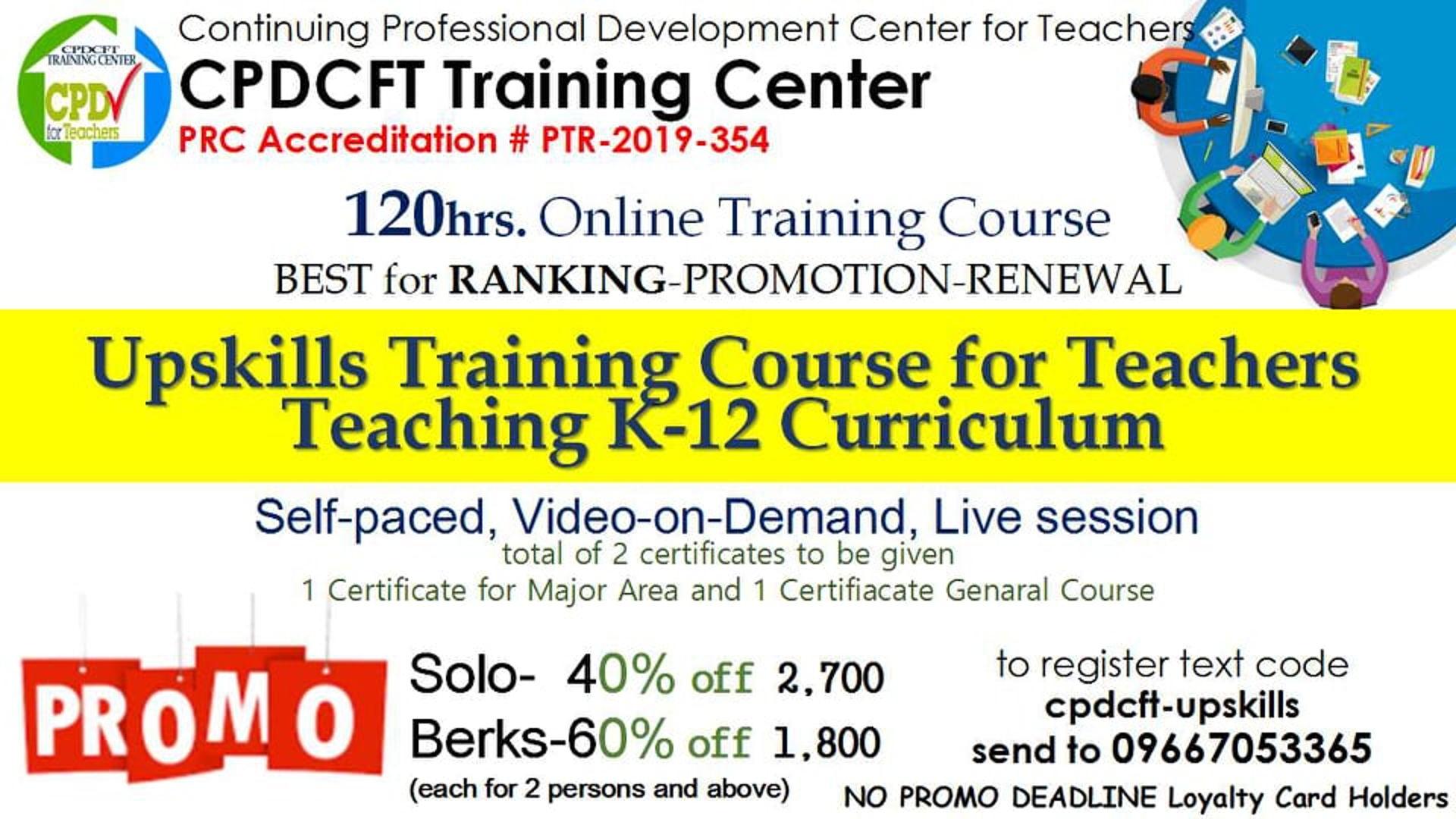 Upskills Teacher Training for Teachers Teaching K-12 Curriculum