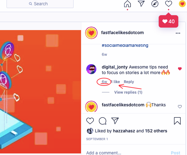 How To Find Instagram comment Link part 1