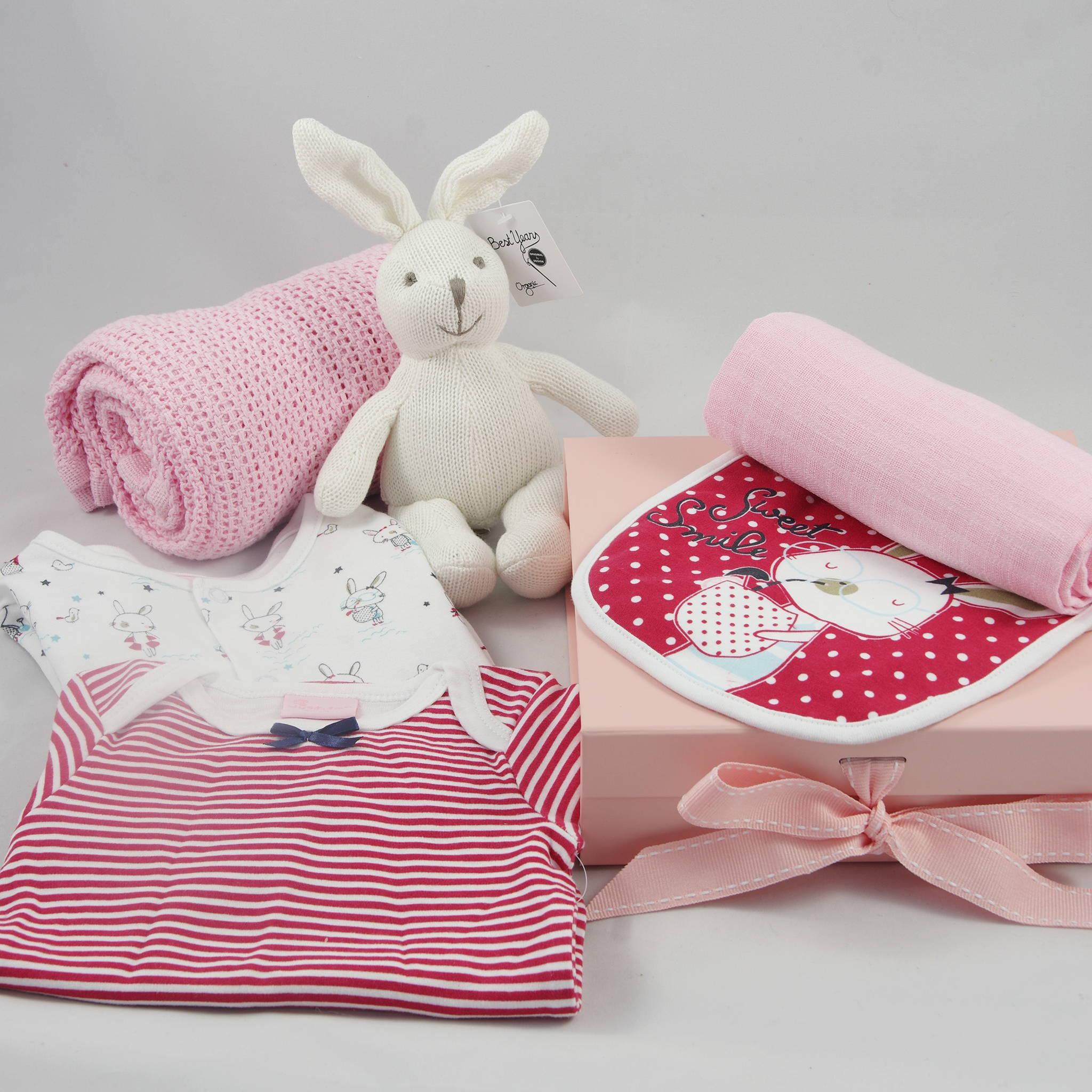 Sweet Smile Baby Girl Bunny Theme Gift Box